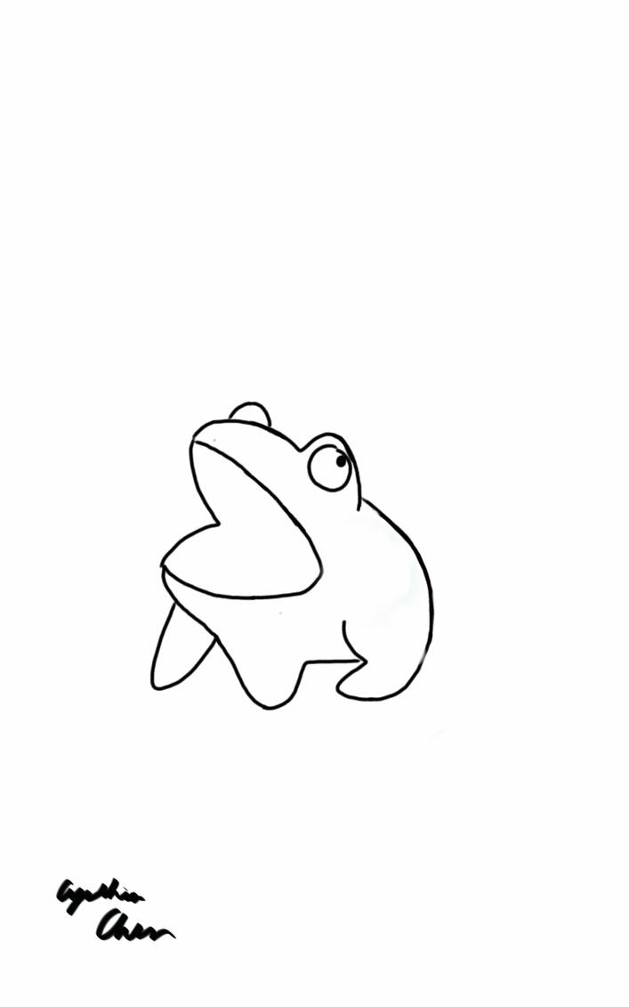 cute frog outline by purple pastries on deviantart