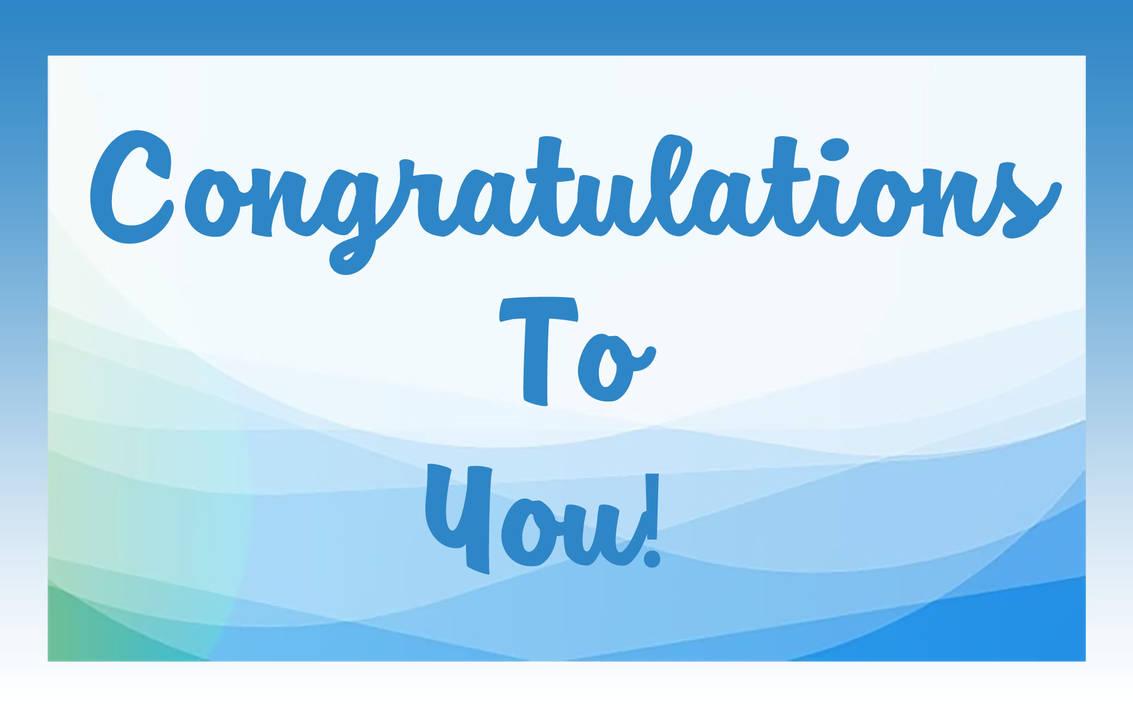 Congratulations To You 1