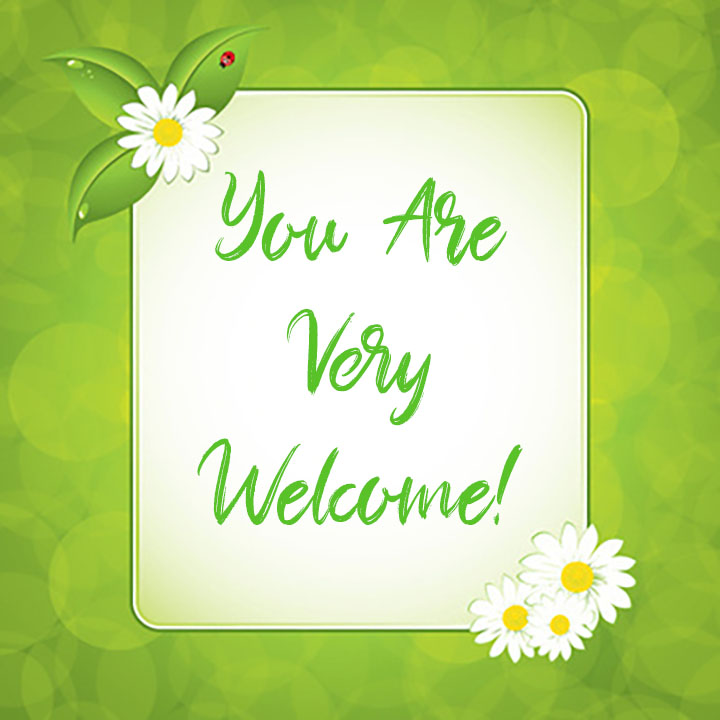 You Are Very Welcome 1