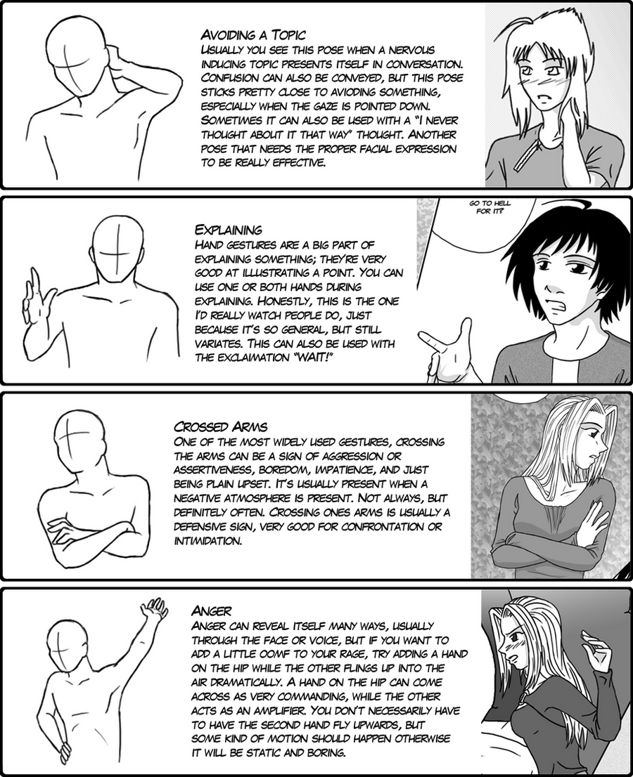 Hand Gesture Tutorial 3 by DerSketchie