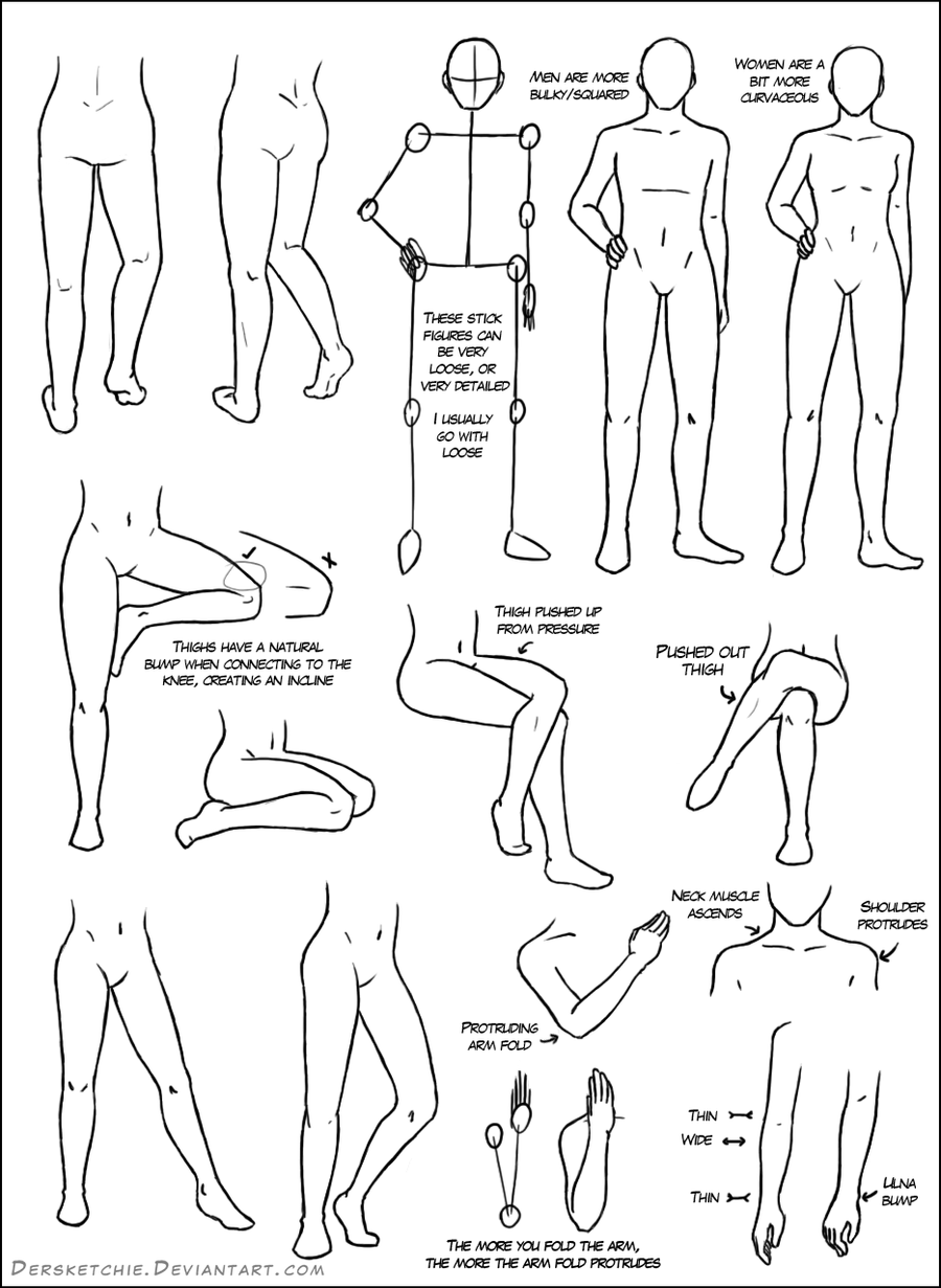 Leg Tutorial by DerSketchie on DeviantArt