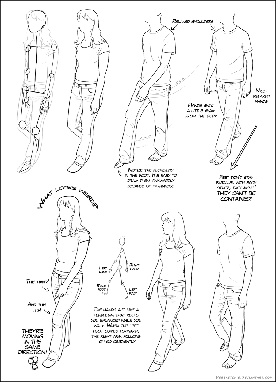 Walking Tutorial 01 by DerSketchie on DeviantArt