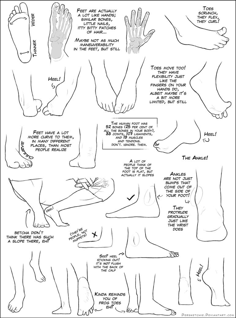 Feet Tutorial by DerSketchie on DeviantArt
