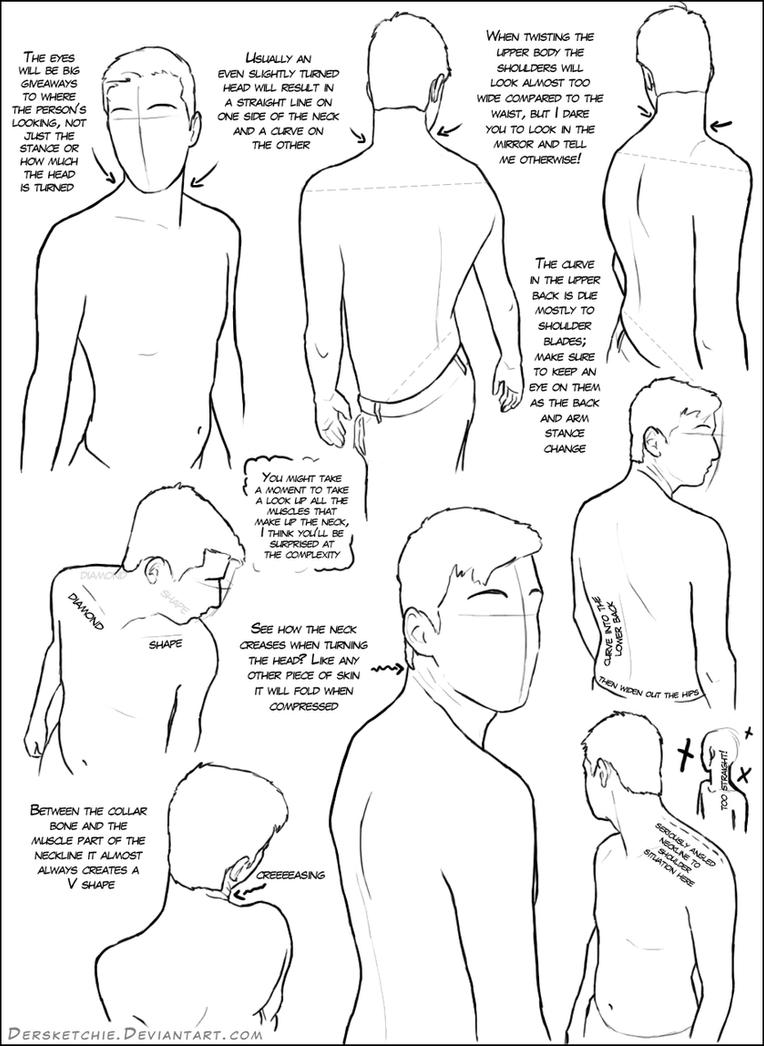Over The Shoulder Male Tutorial By Dersketchie On Deviantart