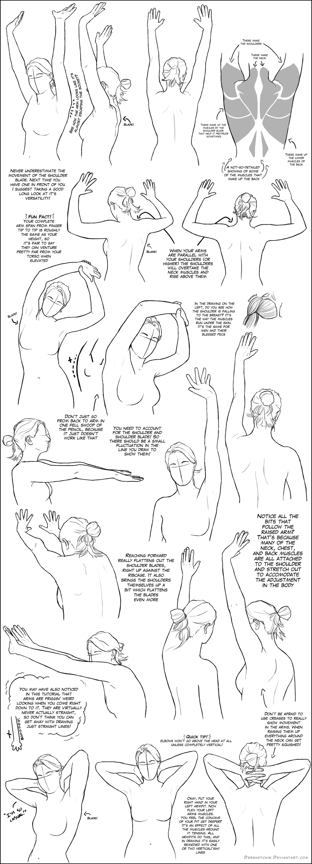 Arms Above the Shoulder/Head Tutorial by DerSketchie