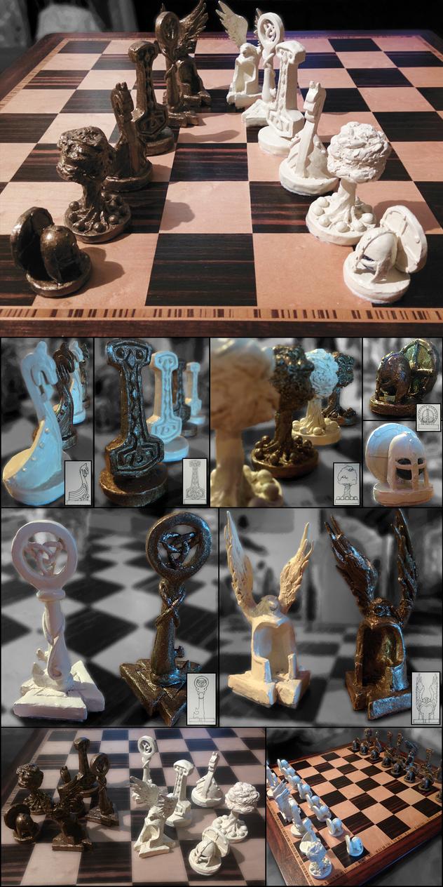 Viking Chess Set by DerSketchie