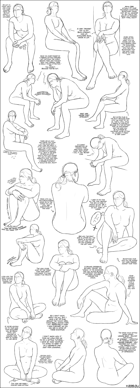 Sitting tutorial female by dersketchie