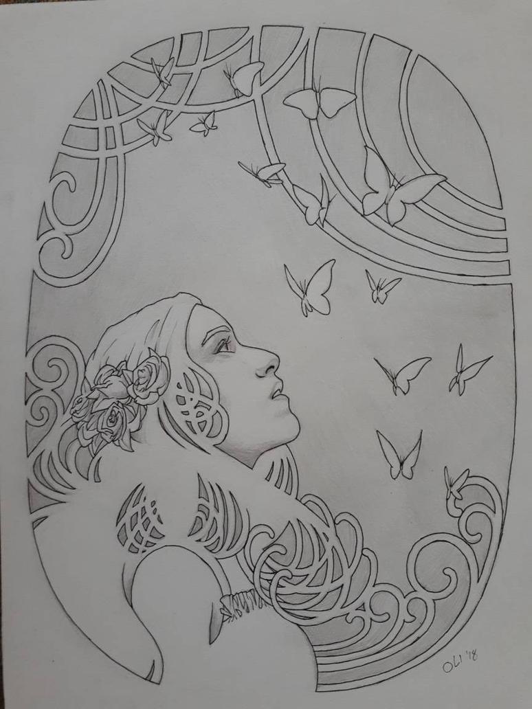 practice: art nouveau by DerSketchie