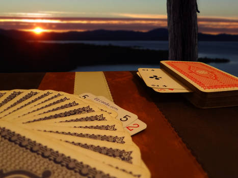 Old School Cards at Sunset