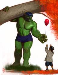 A softer Hulk by FUNKYMONKEY1945