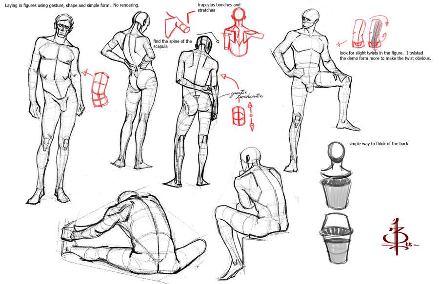 some simple form breakdowns by FUNKYMONKEY1945