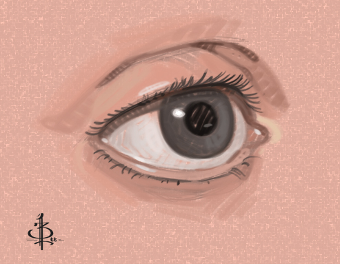 Eye Sketch by FUNKYMONKEY1945