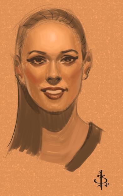 Timed head sketch30 by FUNKYMONKEY1945