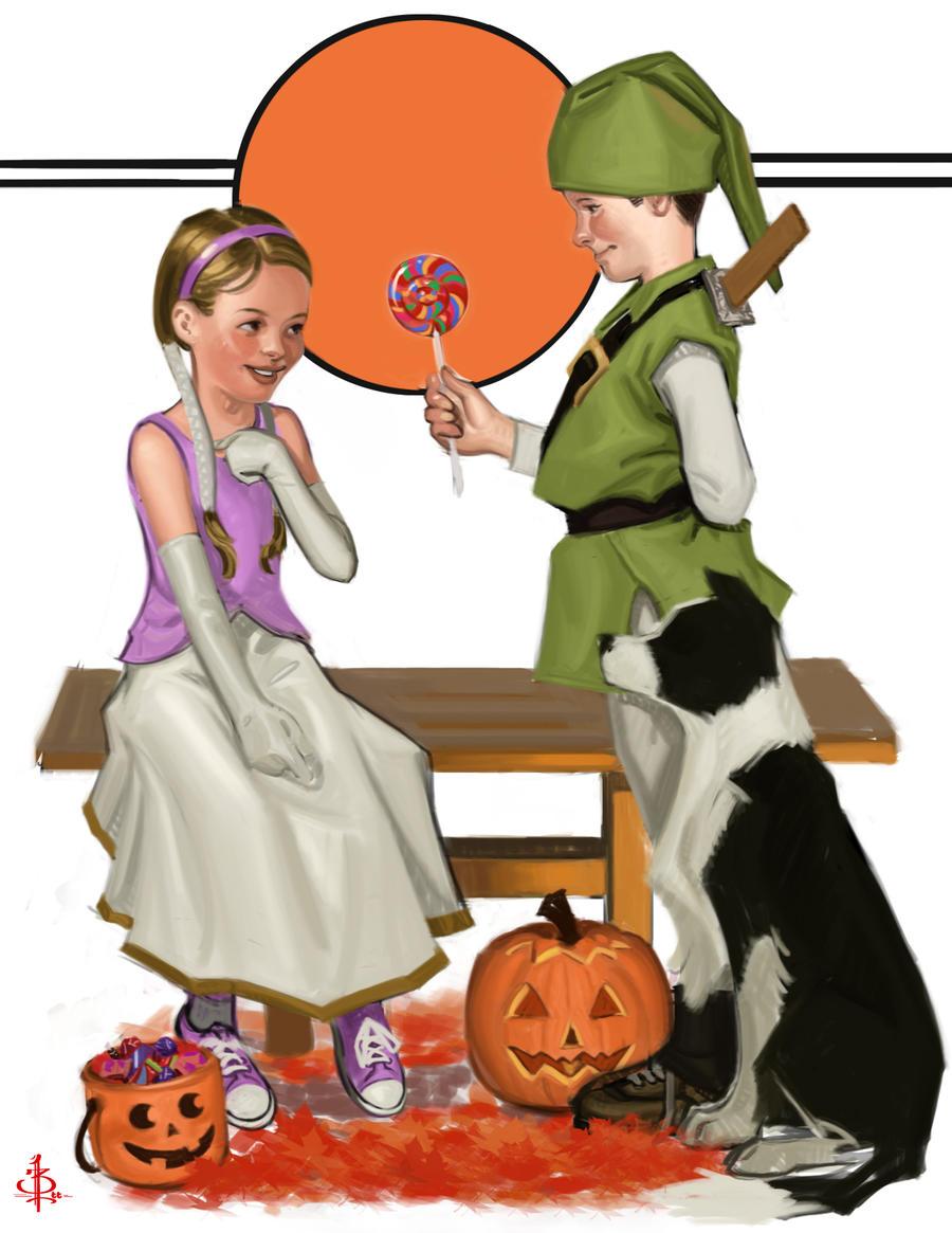 Halloween Candy WIp by FUNKYMONKEY1945