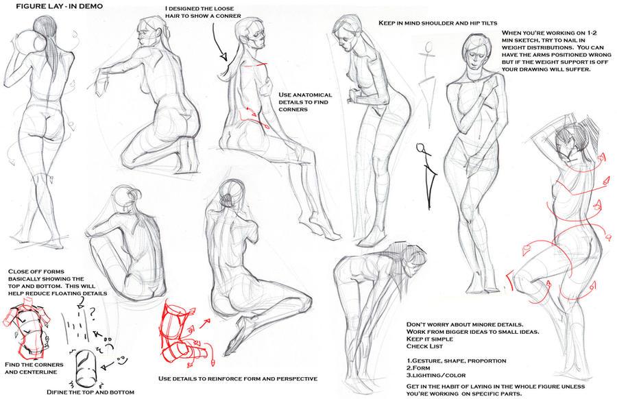 Drawing Anatomy Tutorial Tutorial How To Draw Anatomy Part 1 Black