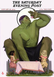 Hulk Tea Time with logo by FUNKYMONKEY1945