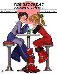 Rock N Roll Valentine_Print by FUNKYMONKEY1945