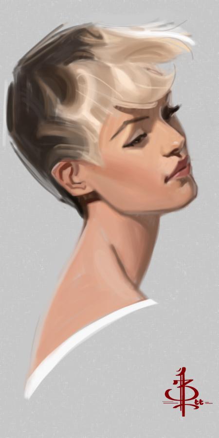 Timed Head Sketch 471 by FUNKYMONKEY1945