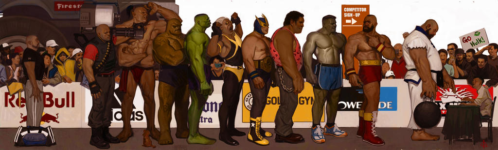Strongman Competition final wip before final by FUNKYMONKEY1945
