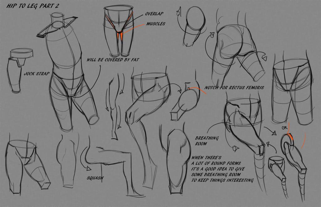 Leg Hip Notes P2 by FUNKYMONKEY1945