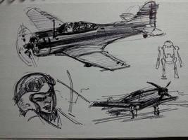3 by 5 sketchbook samples by FUNKYMONKEY1945