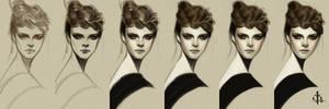 timed head sketch 1019 steps by FUNKYMONKEY1945