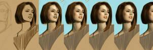 timed head sketch 1035 Steps by FUNKYMONKEY1945