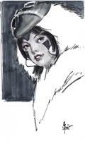 3 by 5 Sketch for Sale Mononoke by FUNKYMONKEY1945