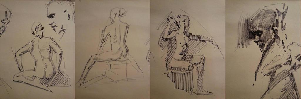 workshop sharpie quick sketches by FUNKYMONKEY1945