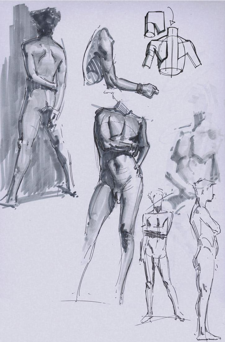 Figure Quick Sketch 5 by FUNKYMONKEY1945