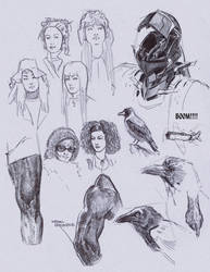 Doodles by FUNKYMONKEY1945