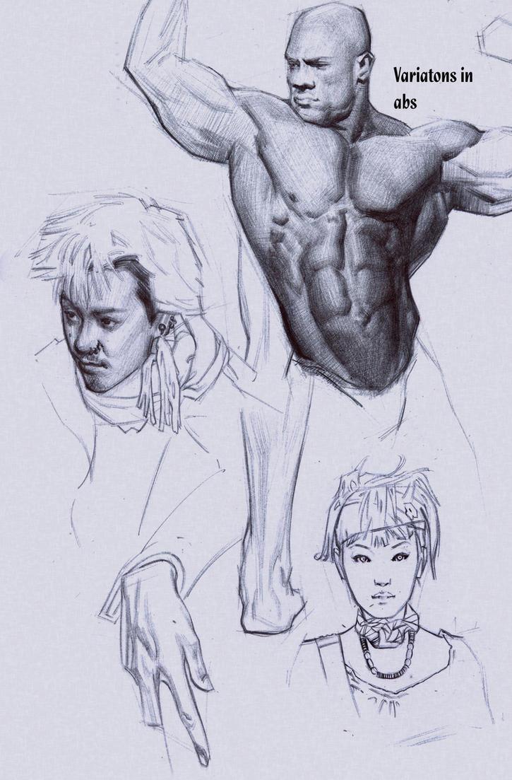 Various studies by FUNKYMONKEY1945