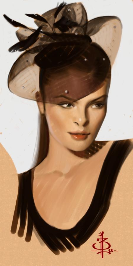 timed head sketch 1241 by FUNKYMONKEY1945