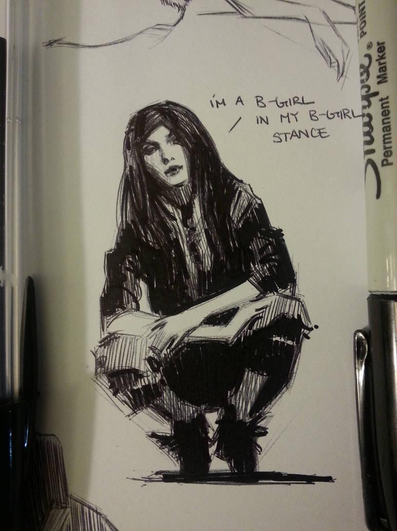 Sharpie and bic sketch by FUNKYMONKEY1945