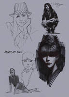 sketches by FUNKYMONKEY1945