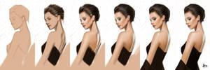 timed head sketch 1405 Steps