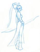 Mina Sketch by FUNKYMONKEY1945