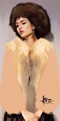 timed head sketch 1454 by FUNKYMONKEY1945