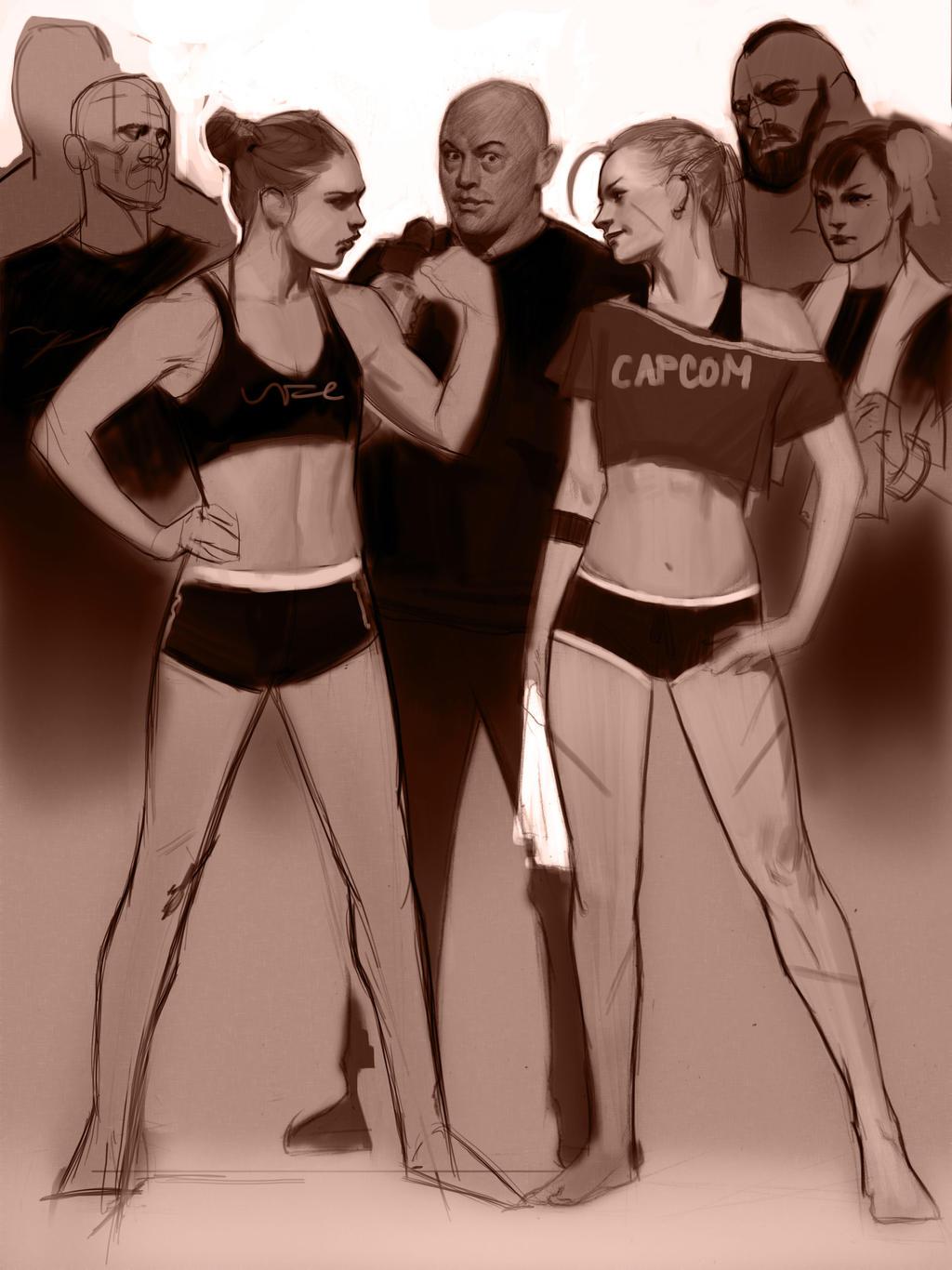 Cammy V Ronda Wip 1 by FUNKYMONKEY1945