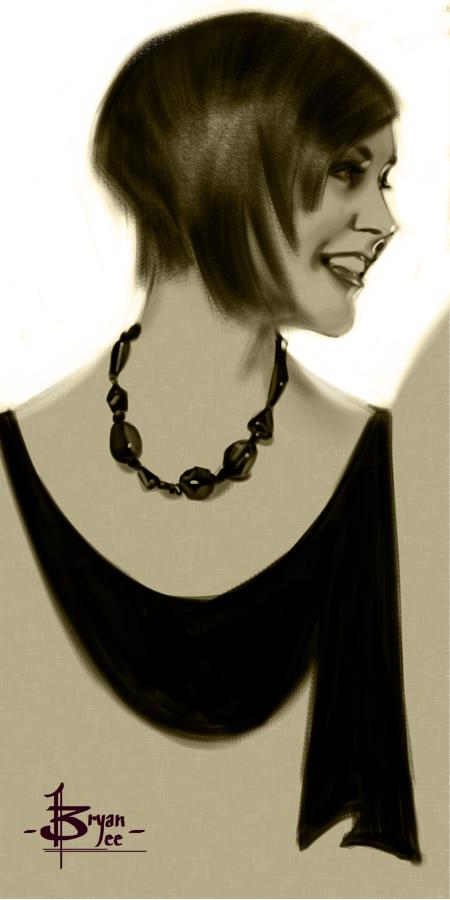 timed head sketch 1523 by FUNKYMONKEY1945