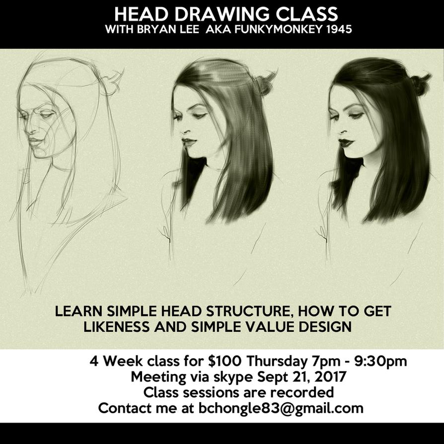 Head Drawing Class by FUNKYMONKEY1945
