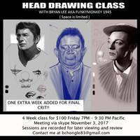 Head Drawing Class Flyer 2 by FUNKYMONKEY1945
