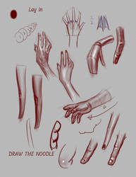 One of the pages from a livestream on hands by FUNKYMONKEY1945