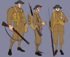 ww1 Character doodles