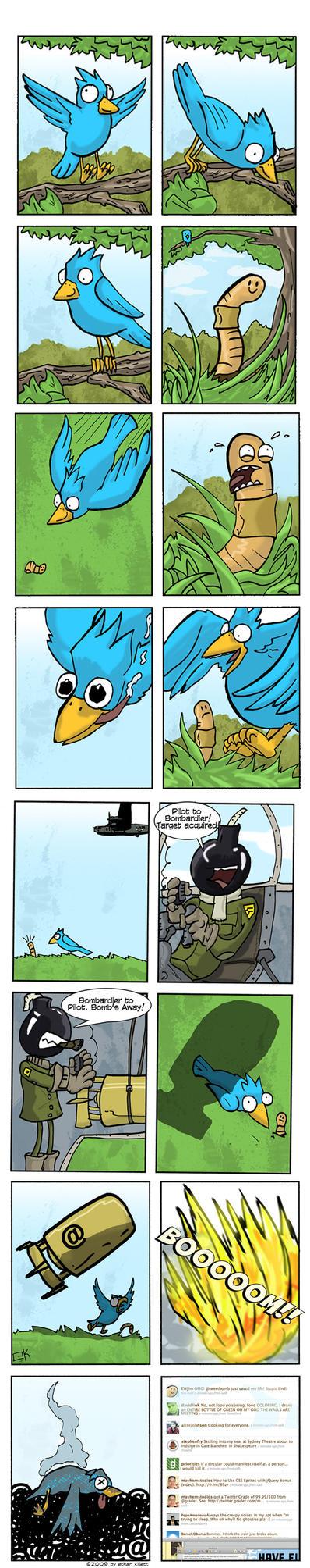 Tweet Bomb Comic by ekillett