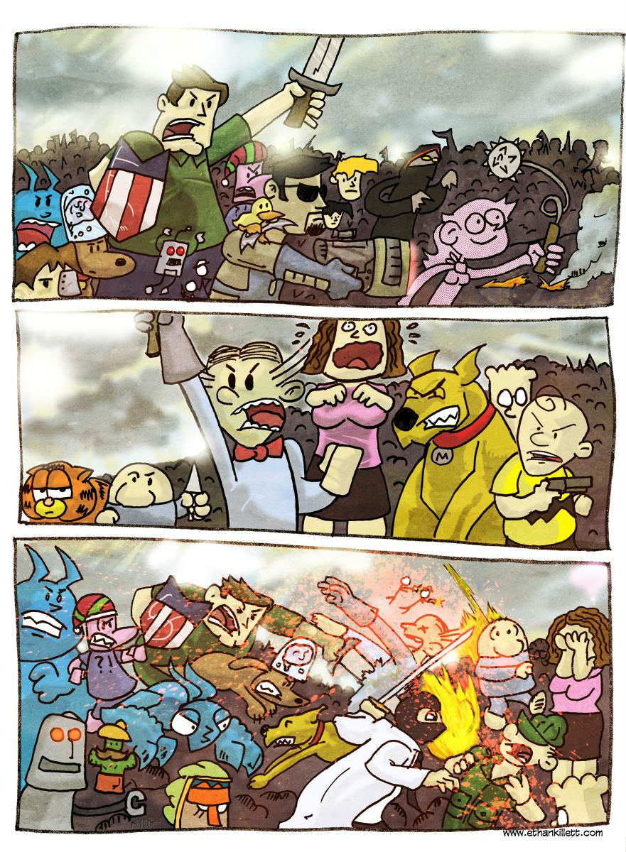 Comic War by ekillett