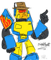 Quick Sketch: Nightbeat by ekillett