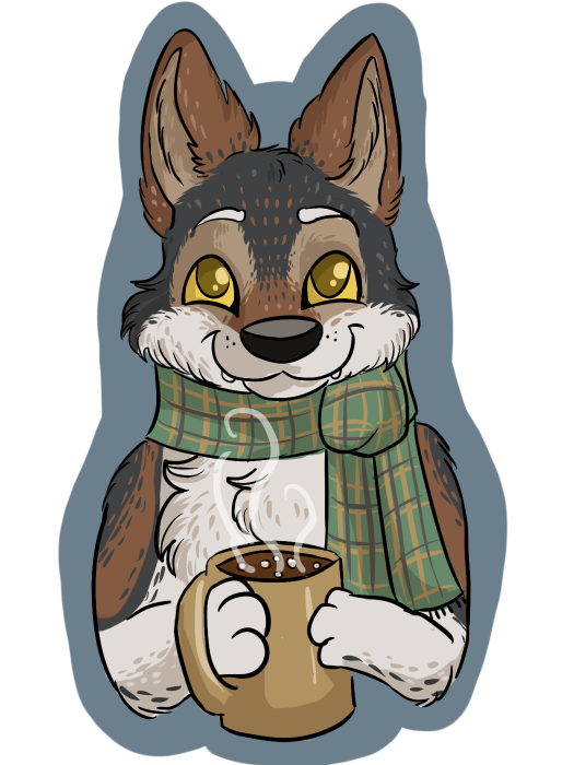 Winter Woof by PixelSunshine