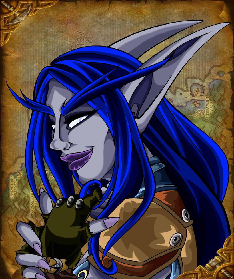 Shanarra Ravenmane Portrait by XRed-EyeX
