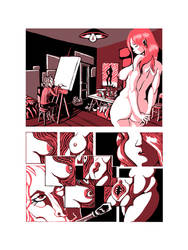 The painter and his model: page 3 by Lanius-Collurio